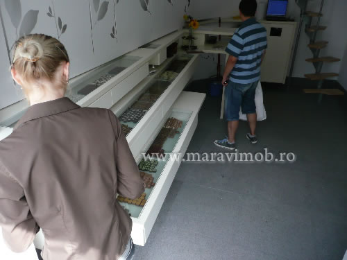 mobilier magazin vitrine